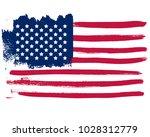 grunge flag of usa.vector flag. | Shutterstock .eps vector #1028312779