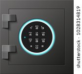 image of a steel safe. armored... | Shutterstock .eps vector #1028314819