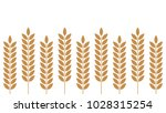 rice vector. free space for... | Shutterstock .eps vector #1028315254