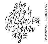 handwritten modern dry brush... | Shutterstock .eps vector #1028315737