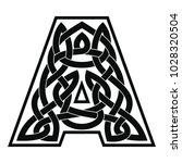 letter of the english alphabet... | Shutterstock .eps vector #1028320504