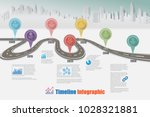business road map timeline... | Shutterstock .eps vector #1028321881