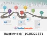 business road map timeline... | Shutterstock .eps vector #1028321881