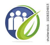 circle logo icon for community