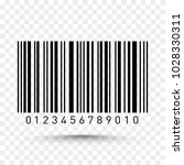barcode isolated on transparent ... | Shutterstock .eps vector #1028330311