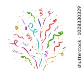 colorful confetti isolated.... | Shutterstock .eps vector #1028330329