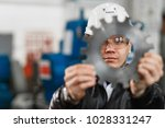 factory engineer checks the... | Shutterstock . vector #1028331247