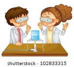 illustration of 2 children... | Shutterstock .eps vector #102833315