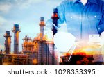 technician engineer working in... | Shutterstock . vector #1028333395