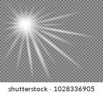 vector transparent sun flash... | Shutterstock .eps vector #1028336905