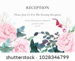 light wedding design with pink... | Shutterstock .eps vector #1028346799