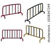 vector set of traffic fence | Shutterstock .eps vector #1028347249