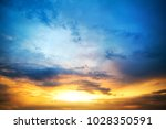 sunset sky clouds.delicate... | Shutterstock . vector #1028350591