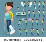 flat type mother and... | Shutterstock .eps vector #1028352961