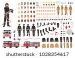 firefighter creation set or... | Shutterstock .eps vector #1028354617