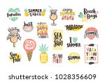 collection of bright colored... | Shutterstock .eps vector #1028356609