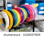 color plastic pla and abs... | Shutterstock . vector #1028357839
