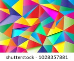 colorful abstract polygon... | Shutterstock .eps vector #1028357881