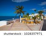 renovated promenade on the sea... | Shutterstock . vector #1028357971