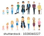 stages of growth. from baby to... | Shutterstock .eps vector #1028360227