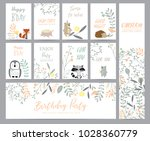 natural pastel greeting card... | Shutterstock .eps vector #1028360779