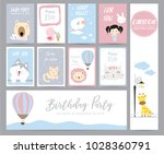 blue pink pastel greeting card... | Shutterstock .eps vector #1028360791