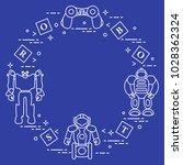 toys for children  robots ... | Shutterstock .eps vector #1028362324