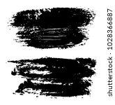 grunge brush strokes.vector... | Shutterstock .eps vector #1028366887