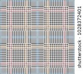 grey checkered hounds tooth... | Shutterstock .eps vector #1028372401