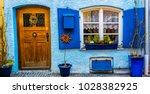 beautiful facade of the house... | Shutterstock . vector #1028382925