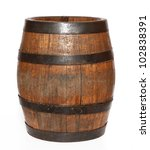 Wooden Barrel With Iron Rings...