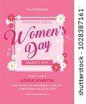 women's day flyer template   Shutterstock .eps vector #1028387161