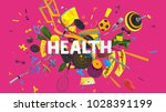 colorful attractive 3d rendered ... | Shutterstock . vector #1028391199
