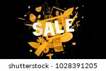 colorful advertising card or... | Shutterstock . vector #1028391205