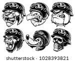 set of animals bikers. design... | Shutterstock .eps vector #1028393821