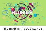 colorful attractive 3d rendered ... | Shutterstock . vector #1028411401