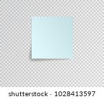 paper sticker with shadow on... | Shutterstock .eps vector #1028413597