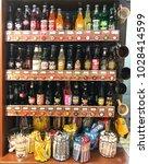 Small photo of BRUNSWICK, GEORGIA-FEBRUARY 7, 2018: Nostalgic and retro Americana items for retail sale inside a Craker Barrel restaurant.