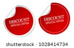discount special offer stickers | Shutterstock .eps vector #1028414734