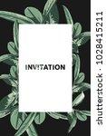 invitation card template on... | Shutterstock .eps vector #1028415211