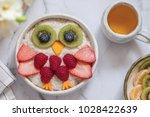 kids breakfast oatmeal porridge ... | Shutterstock . vector #1028422639