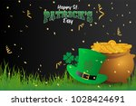 realistic st. patrick's day... | Shutterstock .eps vector #1028424691