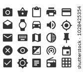different icons set.camera...