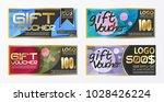 gift certificate voucher coupon ... | Shutterstock .eps vector #1028426224