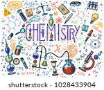 chemistry of icons set.... | Shutterstock .eps vector #1028433904
