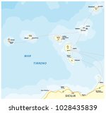 map of the italian island group ... | Shutterstock .eps vector #1028435839