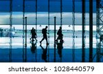 modern building and people... | Shutterstock . vector #1028440579