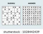 vector sudoku with answer 119....   Shutterstock .eps vector #1028442439