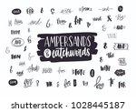 set of various handwritten...   Shutterstock .eps vector #1028445187