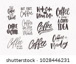 set of coffee lettering... | Shutterstock .eps vector #1028446231